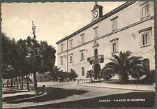 FOGGIA LUCERA 01 PALAZZO DI GIUSTIZIA - TRIBUNALE Cartolina viaggiata 1950