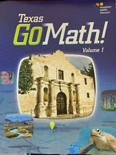 Texas GO Math Volume 1 Only **New** 4th Grade Texas Standards Student Workbook