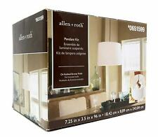 allen + roth Bronze Metal Swag Light Kit with Cord