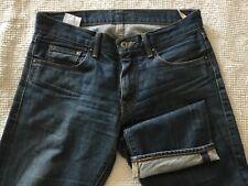 LEVIS Hesher 100% Cotton Selvedge Denim Straight Fit Blue Jeans - Sz 30x34