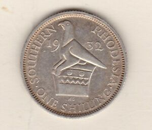 1932 SOUTHERN RHODESIA GEORGE V SILVER SHILLING IN GOOD VERY FINE CONDITION