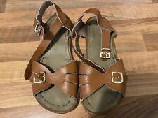 Saltwater Classic Sandals Tan Brown Size 1 UK