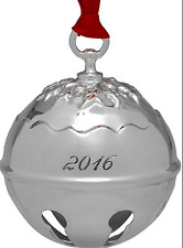 Reed & Barton 2016 Silver Plated Holly Bell Ornament