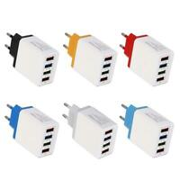 4 USB Color Travel Charger 3A Phone Fast Charging Charger EU Plug Adapter /ND