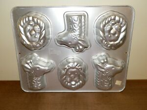 Wilton MINI JUNGLE ANIMALS 2105-2096 LION Giraffe 6 Cavity CAKE PAN Mold