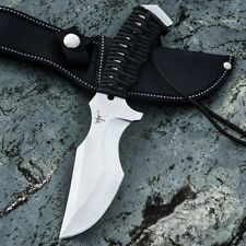 Drop Point Knife Hunting Tactical Survival Jungle Combat Cord Wrapped Handle Cut