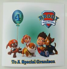 Personalised 4th Birthday Card Paw Patrol 1st 2nd 3rd 5th Grandson Daughter Son