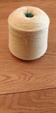 100% Wool 2/12nm Hosiery/knittng Yarn On Large 1250 Gram Cone In Lemon.