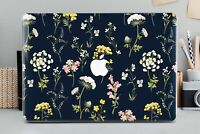 Floral Cute Black Macbook 12 Pro 13 15 Air 11 13 Top Bottom Printed Cover Shell