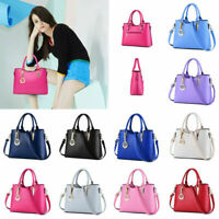 New Women's Handbag PU Leather Ladies Tote Cross Body Shoulder Bag Purse Satchel