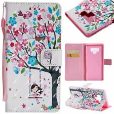 Tree Spirit 3D wallet Leather case with strap for iphone X 8 7 Samsung Note 9 LG