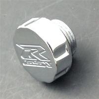 For Suzuki GSXR 600 750 1000 1100 CHROME Oil Filler Brake Reservoir Cap