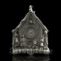 3D Model STL CNC Router Artcam Aspire Disney Holidays Clock Cut3D Vcarve
