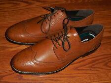"""Nunn Bush """"Nelson"""" Comfort Gel  COGNAC Oxford Leather Shoes Mens SZ 9.5 M"""