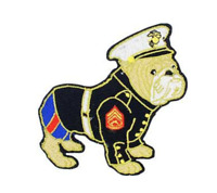 """Marine Corps Bulldog Iron On Patch 3 1/2"""" x 3 1/2"""" PM5121 Licensed Eagle Emblems"""