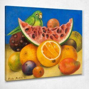 Natura morta con pappagallo e frutta Frida Kahlo quadro FKA26