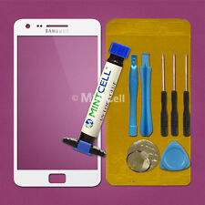 New White Front Glass Touch Screen Lens Replacement For Galaxy S2 i9100 w/ LOCA