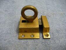 Antique Brass Sprung loaded Door catch+Keep-window Cupboard Lock Architectural