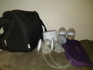 Philips Avent Double Electric Breast Pump PLUS new valves SCF334 Great Condition