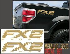 Fx2 SPORT Truck Bed Decals METALLIC GOLD Set for Ford F-150 & Super Duty