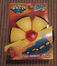 Phlat Ball Jr Metallic Beach Garden Toy Flat Flying Disc Ball Yellow Black