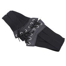 Sexy Women Hip High Waist Lace Up Fashion Wide Corset Elastic Belt Accessory WE