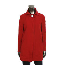 13427 auth D&G DOCLE & GABBANA red polyester & cotton Rain Coat Jacket 42 M