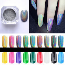 Magic Holographic Colorful Nails Effect Ultra Fine Chrome Powder Pigment Polish