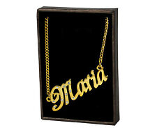 18k Plateó la Collar de Oro Con el Nombre - MARIA - Regalos Para las Mujeres