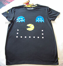 Pac Man Pacman Game Face Mens Black T Shirt Size XS New