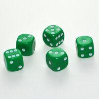 50 Stück 16mm Grüne Knobel Würfel / Augen Würfel Spielwürfel von Frobis