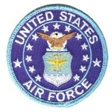 UNITED STATES AIR FORCE ROUND VETERAN EMBROIDERED  BIKER  PATCH