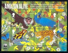 GB 2011 WWF/Monkey/Frog/Parrot/Cat/Animals m/s (n30303)