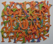 "GLiTTER CANDY ~ Halloween K & Company Alphabet Chipboard Letters & Die Cuts 1.5"""