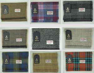 """Harris Tweed Pure Wool Luxury Mens & Womens Fringed Scarf 60"""" 150cm Length"""