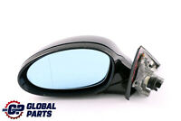 BMW 3 Series 1 E90 M Sport High Gloss Heated Left N/S Wing Mirror Carbon Black