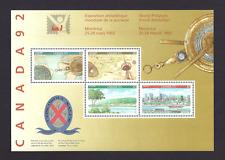 Canada    # 1407 a   Souvenir Sheet    CANADA 92    1992   New With Pristine Gum