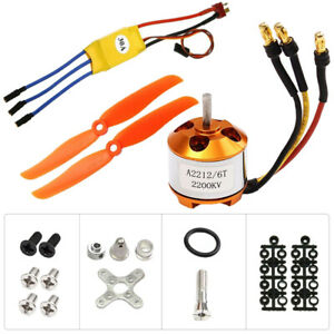 New A2212-6T 2200KV Brushless Motor 30A ESC Free Mount For RC Plane Helicopter