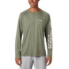 Columbia Pfg Terminal Tackle Heather Green Long Sleeve Omni Shade Shirt 2Xl