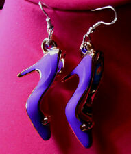 Purple Color 925 EARRINGS Handcrafted HIGH HEEL SHOES STILETTO Nora Winn