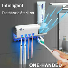 UV Light Toothbrush Holder Sterilizer Clean Automatic Wall Toothpaste Dispenser