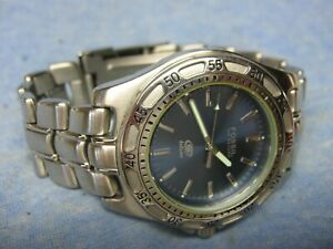 """Men's FOSSIL """"Blue"""" Water Resistant Diver's Watch AM-3272 w/ New Battery"""