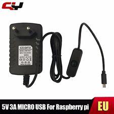 5v 3A Micro USB mit Schalter ON/OFF Netzteil Adapter Raspberry Pi Netzadapter EU