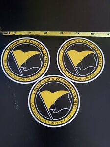 Anarcho-Capitalism Stickers lot of 3 Pro Liberty 🗽 Voluntary Society Sovereign