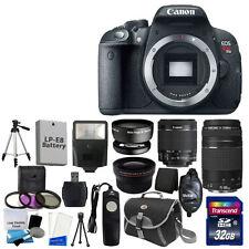 NEW Canon EOS T5i Digital SLR Camera w 4 Lens Complete DSLR Kit +32GB TOP VALUE!