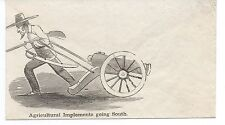 "1860s Civil War Patriotic Cover "" Agricultural Implements going South "" Cannon"