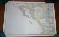 Papier Nautica Couleurs Nautical Map Kerkira Levkas Corfou Grèce 1966