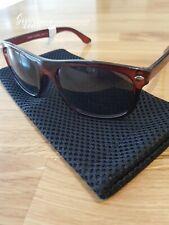 Bloc Barrel X348Y Unisex Burgundy Frame Dark Grey Sunglasses  - RRP £55