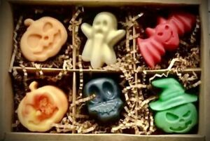 LARGE Pumpkin Soy Wax Melts Halloween Theme Ghost Vegan Friendly Strong Scents