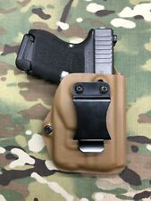 Coyote Tan Kydex IWB Holster for Glock 26/27 Streamlight TLR-6